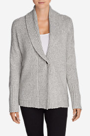 Women's Ribbed Sleep Cardigan Sweater in Gray