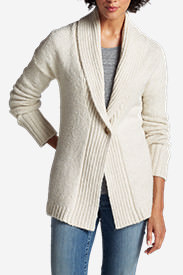 Women's Ribbed Sleep Cardigan Sweater in Beige