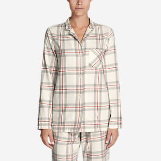 Women's Stine's Favorite Flannel Sleep Shirt in White
