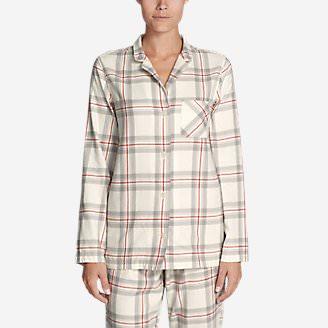 Women's Stine's Favorite Flannel Sleep Shirt in White