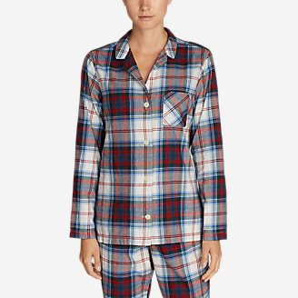 Women's Stine's Favorite Flannel Sleep Shirt in Blue
