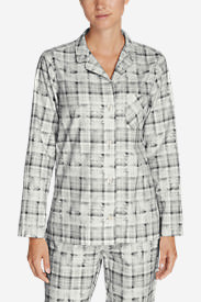 Women's Stine's Favorite Flannel Sleep Shirt in Gray