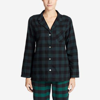 Women's Stine's Favorite Flannel Sleep Shirt in Green