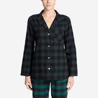 Women's Stine's Favorite Flannel Sleep Shirt in Green