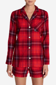 Women's Stine's Favorite Flannel Sleep Shirt in Red