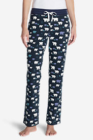 Women's Stine's Knit Sleep Pants - Print in Blue