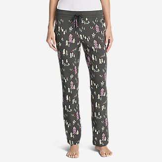 Women's Stine's Knit Sleep Pants - Print in Gray