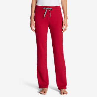 Women's Knit Sleep Pants - Solid in Red