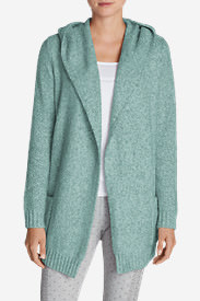 Women's Sleep Sweater Hooded Cardigan in Green