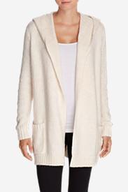 Women's Sleep Sweater Hooded Cardigan in Beige