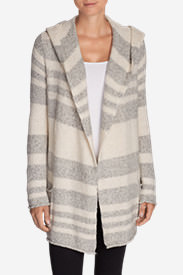 Women's Sleep Hoodie - Stripe in Beige