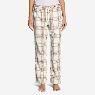 Women's Stine's Favorite Flannel Sleep Pants in White