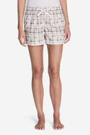 Women's Flannel Sleep Shorts in Gray