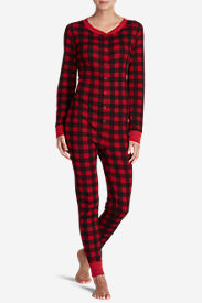 Women's Stine's Favorite Waffle Buffalo Check Onesie in Red