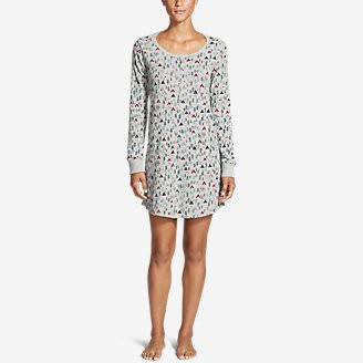 Women's Stine's Favorite Waffle Sleep Shirt in Gray