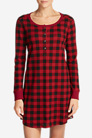 Women's Stine's Favorite Waffle Sleep Shirt in Red
