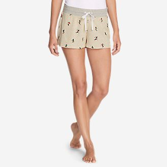 Women's Stine's Favorite Waffle Sleep Shorts - Pattern in Beige
