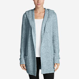 Women's Hooded Sleep Cardigan in Blue