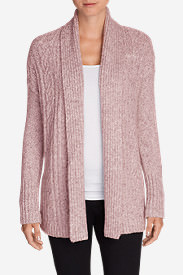 Women's Cable Sleep Cardigan in Pink