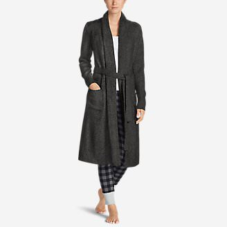 Women's Long Sleep Cardigan - Solid in Gray