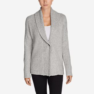 Women's One-Button Sleep Cardigan in Gray
