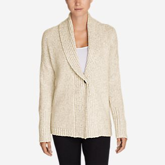 Women's One-Button Sleep Cardigan in Beige