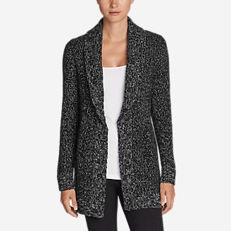 Women's Lounge Around Cardigan in Black