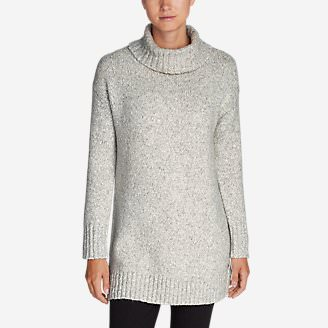 Women's Turtleneck Sleep Sweater in Gray
