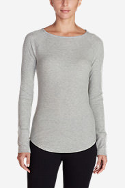 Women's Stine's Favorite Waffle Crew - Solid in Gray