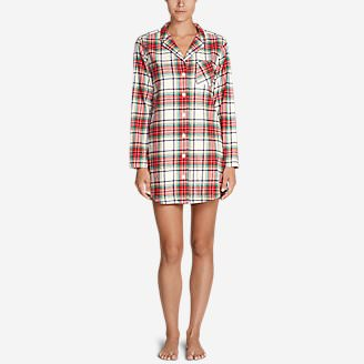 Women's Stine's Favorite Flannel Night Shirt in Red