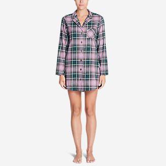 Women's Stine's Favorite Flannel Night Shirt in Green