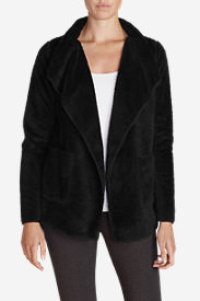 Women's Moonlight Fleece Cardigan in Black