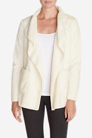 Women's Moonlight Fleece Cardigan in White