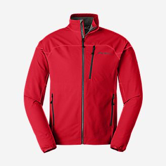 Men's Sandstone Soft Shell Jacket in Red