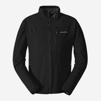 Men's Sandstone Soft Shell Jacket in Black