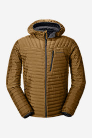 Men's MicroTherm® StormDown® Hooded Jacket in Brown