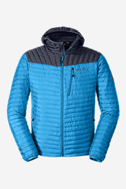 Men's MicroTherm® StormDown® Hooded Jacket in Blue