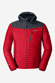 Men's MicroTherm® StormDown® Hooded Jacket in Red