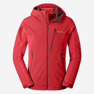 Men's Sandstone Shield Hooded Jacket in Red