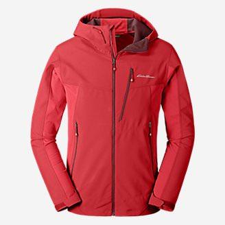 Men's Sandstone Shield Hooded Jacket in Red