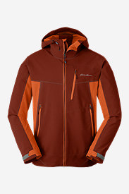 Men's Sandstone Shield Hooded Jacket in Brown