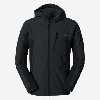 Men's Sandstone Shield Hooded Jacket in Black