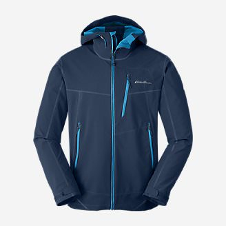 Men's Sandstone Shield Hooded Jacket in Blue