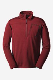 Men's High Route Fleece Pullover in Red