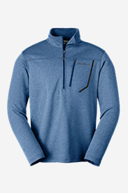 Men's High Route Fleece Pullover in Blue