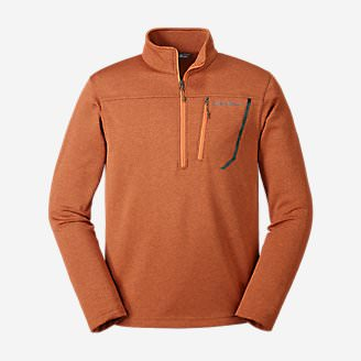 Men's High Route Fleece Pullover in Orange