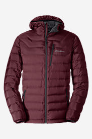Men's Downlight® StormDown® Hooded Jacket in Red