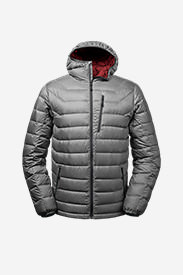 Men's Downlight® StormDown® Hooded Jacket in Gray