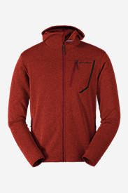 Men's High Route Fleece Hoodie in Red