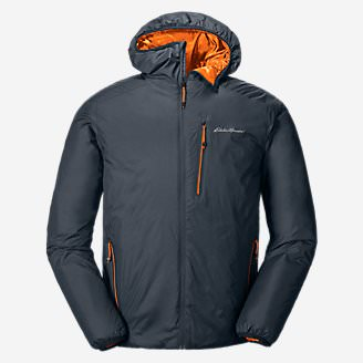 Men's EverTherm Down Hooded Jacket in Blue